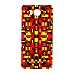 Red Black Yellow 1 Samsung Galaxy Alpha Hardshell Back Case by ArtworkByPatrick1