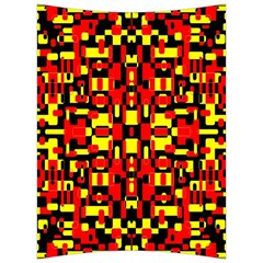 Red Black Yellow 1 Back Support Cushion by ArtworkByPatrick1