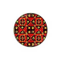 Red Black Yellow 2 Hat Clip Ball Marker (4 Pack)