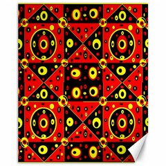 Red Black Yellow 2 Canvas 11  X 14