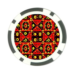 Red Black Yellow 2 Poker Chip Card Guard (10 Pack)