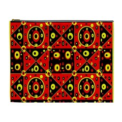 Red Black Yellow 2 Cosmetic Bag (xl)