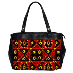 Red Black Yellow 2 Office Handbags