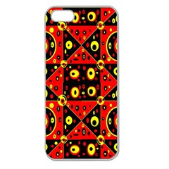 Red Black Yellow 2 Apple Seamless Iphone 5 Case (clear)