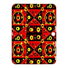 Red Black Yellow 2 Samsung Galaxy Tab 4 (10 1 ) Hardshell Case