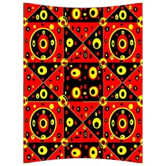 Red Black Yellow 2 Back Support Cushion by ArtworkByPatrick1