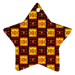Red Black Yellow 3 Ornament (star)