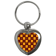 Red Black Yellow 3 Key Chains (heart)
