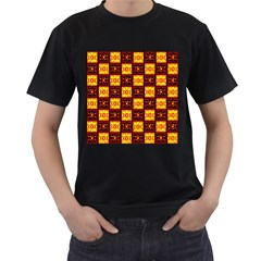 Red Black Yellow 3 Men s T Shirt (black) (two Sided)