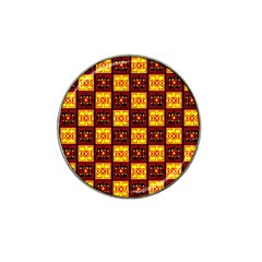 Red Black Yellow 3 Hat Clip Ball Marker (10 Pack)