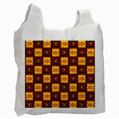 Red Black Yellow 3 Recycle Bag (one Side)