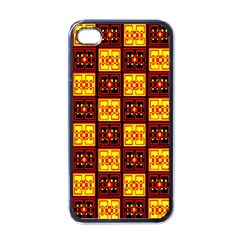 Red Black Yellow 3 Apple Iphone 4 Case (black)