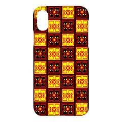Red Black Yellow 3 Apple Iphone X Hardshell Case
