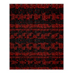 Burgundy Design With Black Zig Zag Pattern Created By Flipstylez Designs Shower Curtain 60  X 72  (medium)