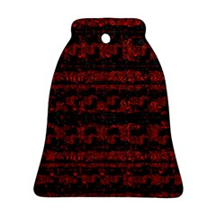 Burgundy Design With Black Zig Zag Pattern Created By Flipstylez Designs Bell Ornament (two Sides)