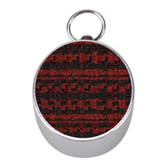 Burgundy Design With Black Zig Zag Pattern Created By Flipstylez Designs Mini Silver Compasses