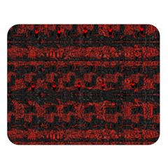 Burgundy Design With Black Zig Zag Pattern Created By Flipstylez Designs Double Sided Flano Blanket (large)