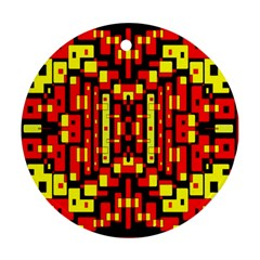 Red Black Yellow 4 Ornament (round)