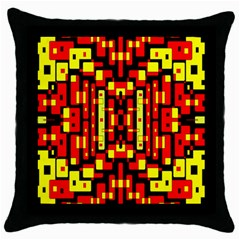 Red Black Yellow 4 Throw Pillow Case (black)