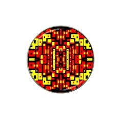 Red Black Yellow 4 Hat Clip Ball Marker (4 Pack)