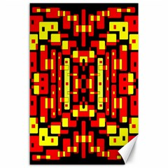 Red Black Yellow 4 Canvas 24  X 36