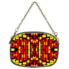 Red Black Yellow 4 Chain Purses (two Sides)
