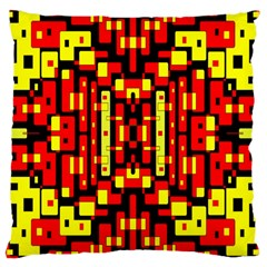 Red Black Yellow 4 Large Cushion Case (two Sides)