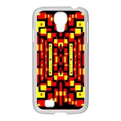 Red Black Yellow 4 Samsung Galaxy S4 I9500/ I9505 Case (white)