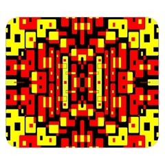 Red Black Yellow 4 Double Sided Flano Blanket (small)