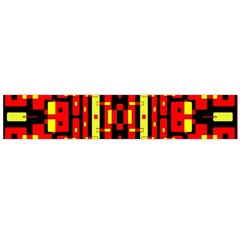 Red Black Yellow 4 Large Flano Scarf