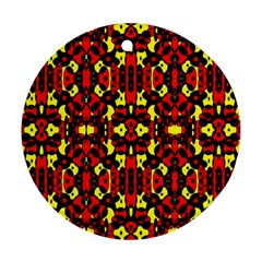 Red Black Yellow 5 Ornament (round)