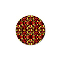 Red Black Yellow 5 Golf Ball Marker (4 Pack)
