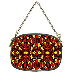 Red Black Yellow 5 Chain Purses (one Side)