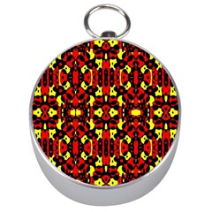 Red Black Yellow 5 Silver Compasses