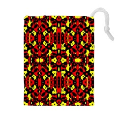 Red Black Yellow 5 Drawstring Pouches (extra Large)