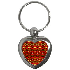 Red Black Yellow 6 Key Chains (heart)