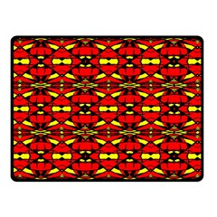 Red Black Yellow 6 Fleece Blanket (small)