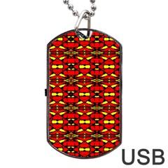 Red Black Yellow 6 Dog Tag Usb Flash (one Side) by ArtworkByPatrick1