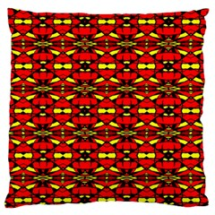 Red Black Yellow 6 Large Flano Cushion Case (one Side)