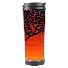 Sunset Dinosaur Scene Travel Tumbler