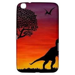 Sunset Dinosaur Scene Samsung Galaxy Tab 3 (8 ) T3100 Hardshell Case