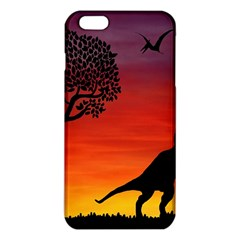 Sunset Dinosaur Scene Iphone 6 Plus/6s Plus Tpu Case