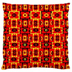 Red Black Yellow 7 Large Flano Cushion Case (two Sides)