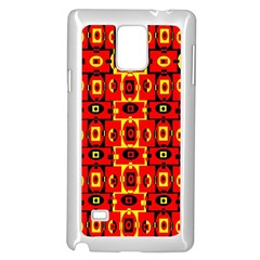 Red Black Yellow 7 Samsung Galaxy Note 4 Case (white)