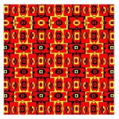 Red Black Yellow 7 Large Satin Scarf (square)
