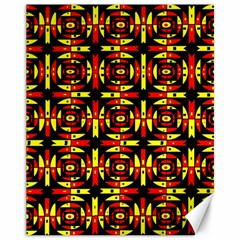 Red Black Yellow 9 Canvas 11  X 14