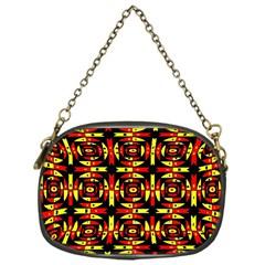 Red Black Yellow 9 Chain Purses (one Side)
