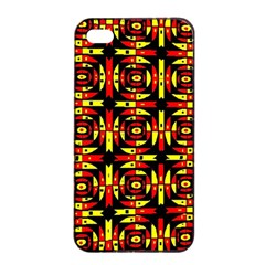 Red Black Yellow 9 Apple Iphone 4/4s Seamless Case (black)