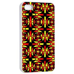 Red Black Yellow 9 Apple Iphone 4/4s Seamless Case (white)