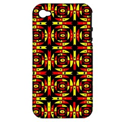 Red Black Yellow 9 Apple Iphone 4/4s Hardshell Case (pc+silicone)